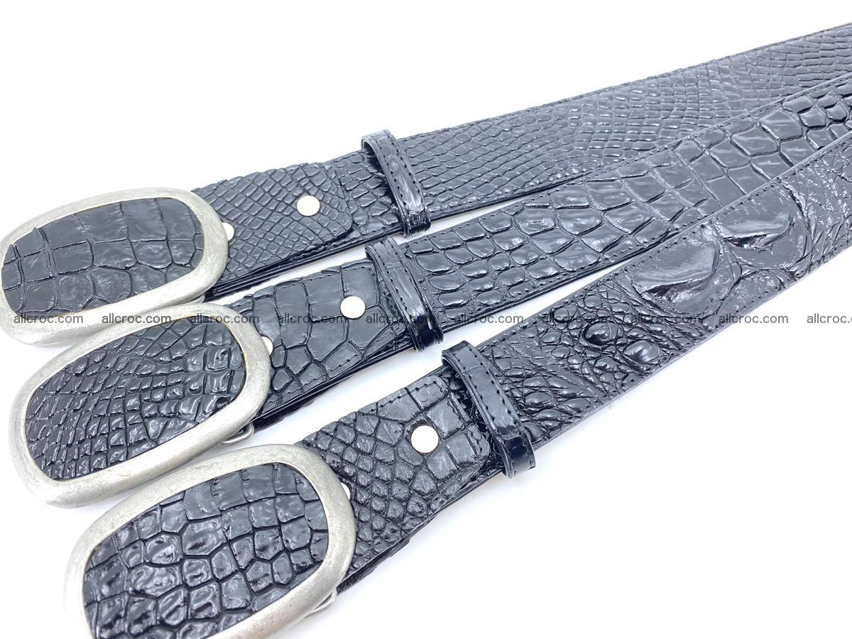 Handcrafted Crocodile leather belt 798 Foto 10