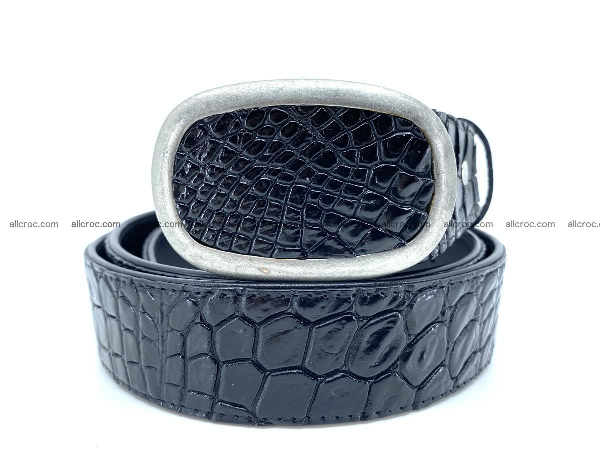 Handcrafted Crocodile leather belt 798 Foto 0