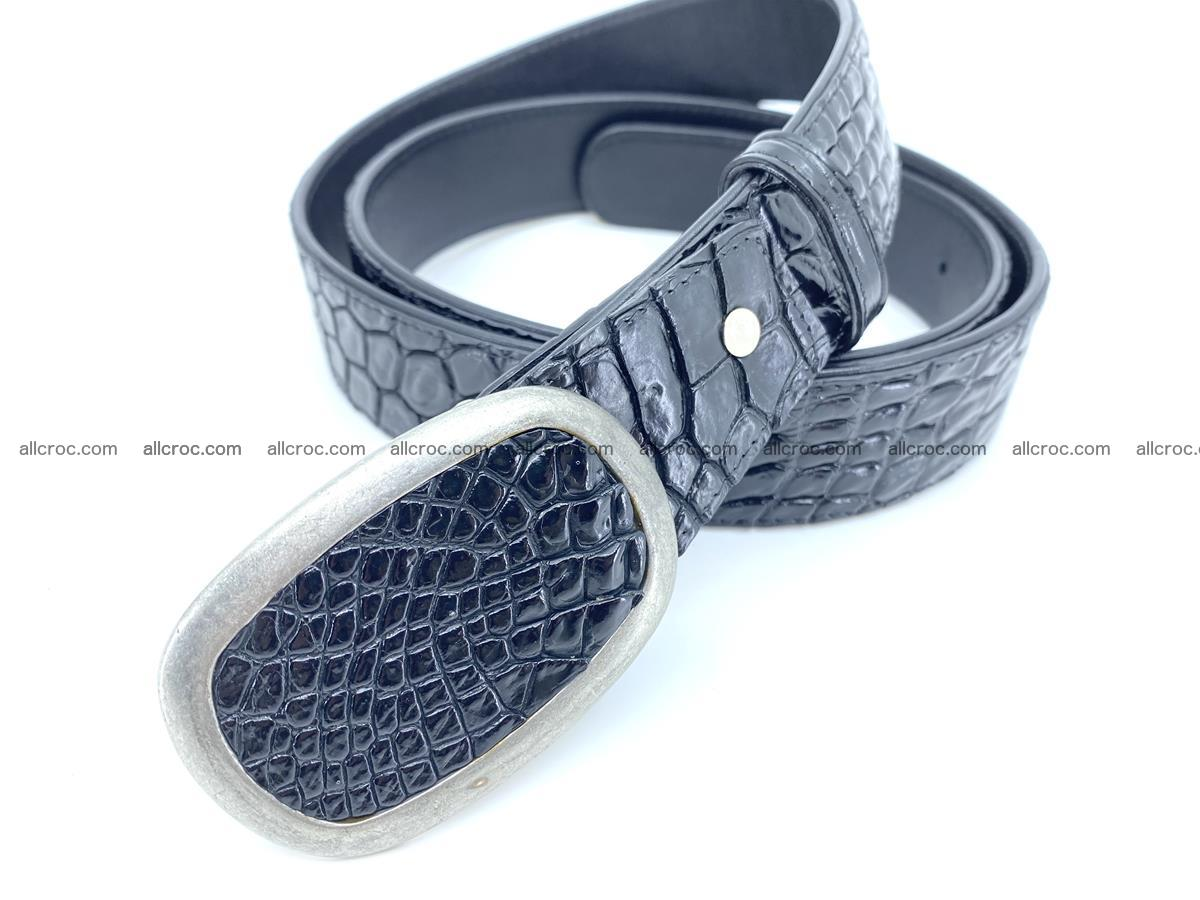 Handcrafted Crocodile leather belt 798 Foto 1