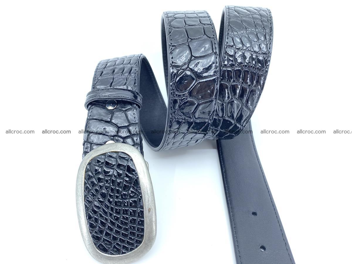 Handcrafted Crocodile leather belt 798 Foto 2