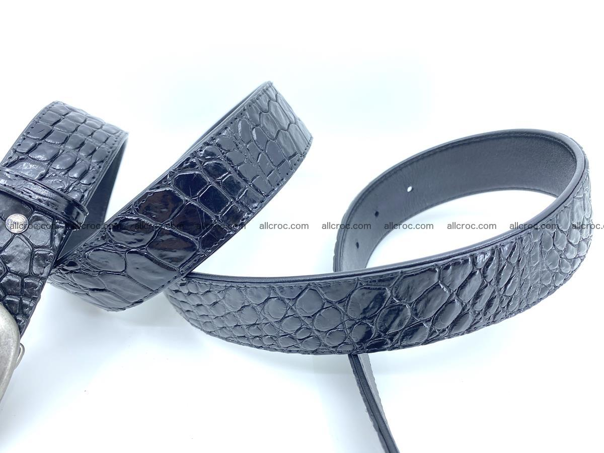 Handcrafted Crocodile leather belt 798 Foto 4