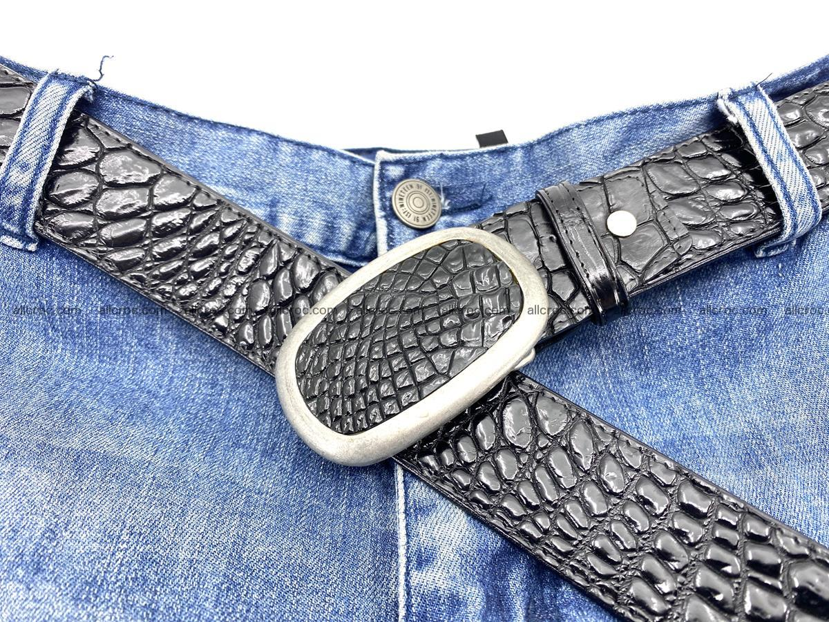 Handcrafted Crocodile leather belt 798 Foto 6