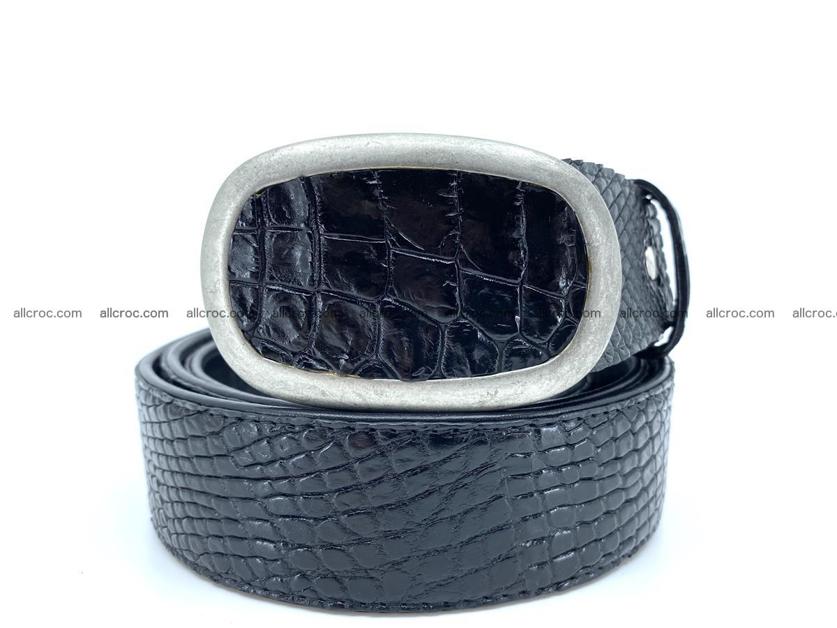 Handcrafted Crocodile leather belt 799 Foto 0