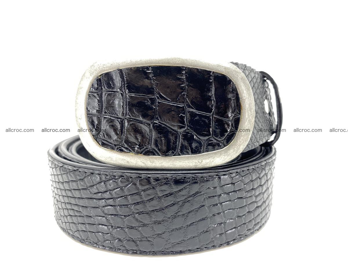 Handcrafted Crocodile leather belt 799 Foto 11