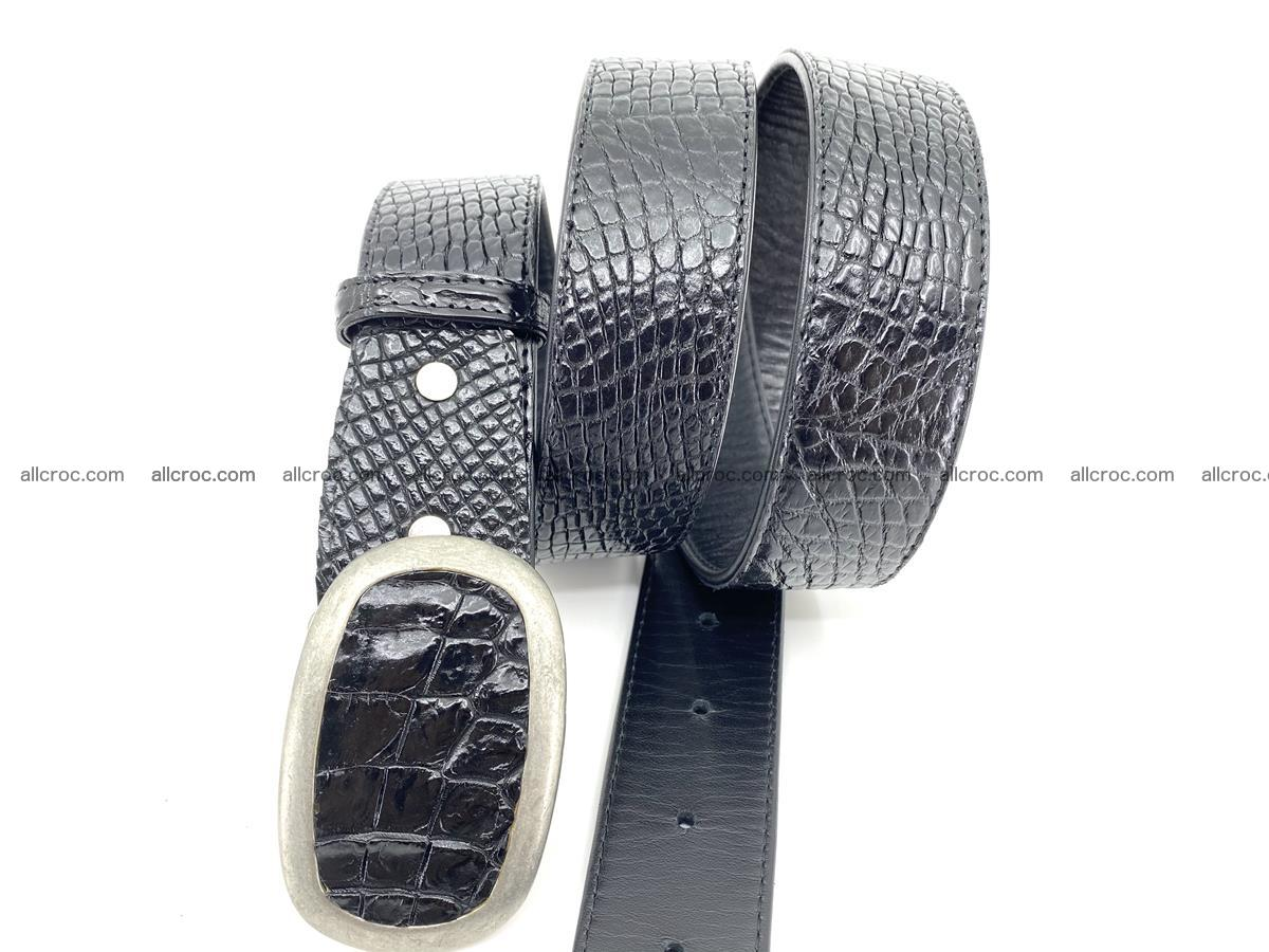 Handcrafted Crocodile leather belt 799 Foto 2