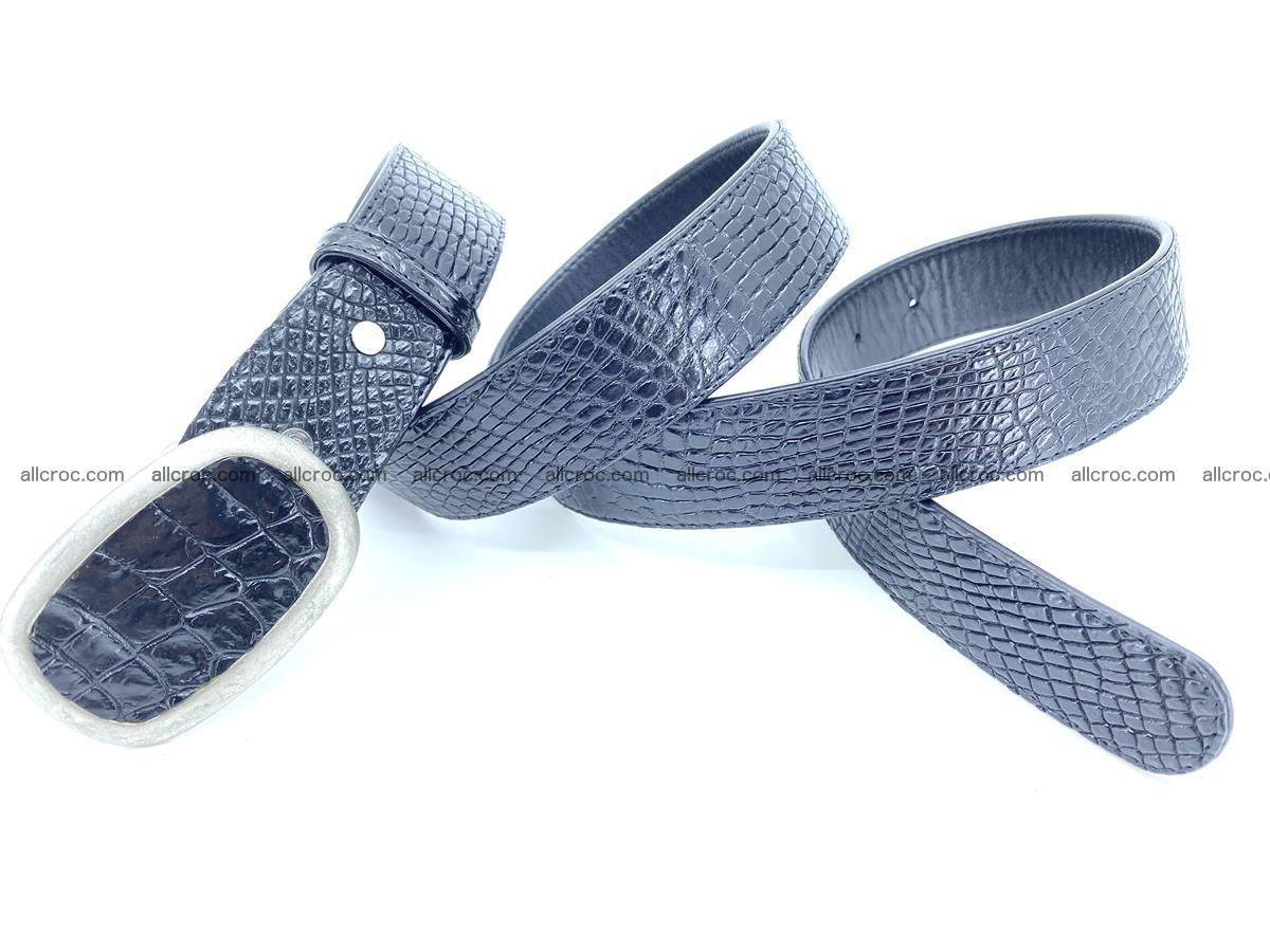 Handcrafted Crocodile leather belt 799 Foto 3