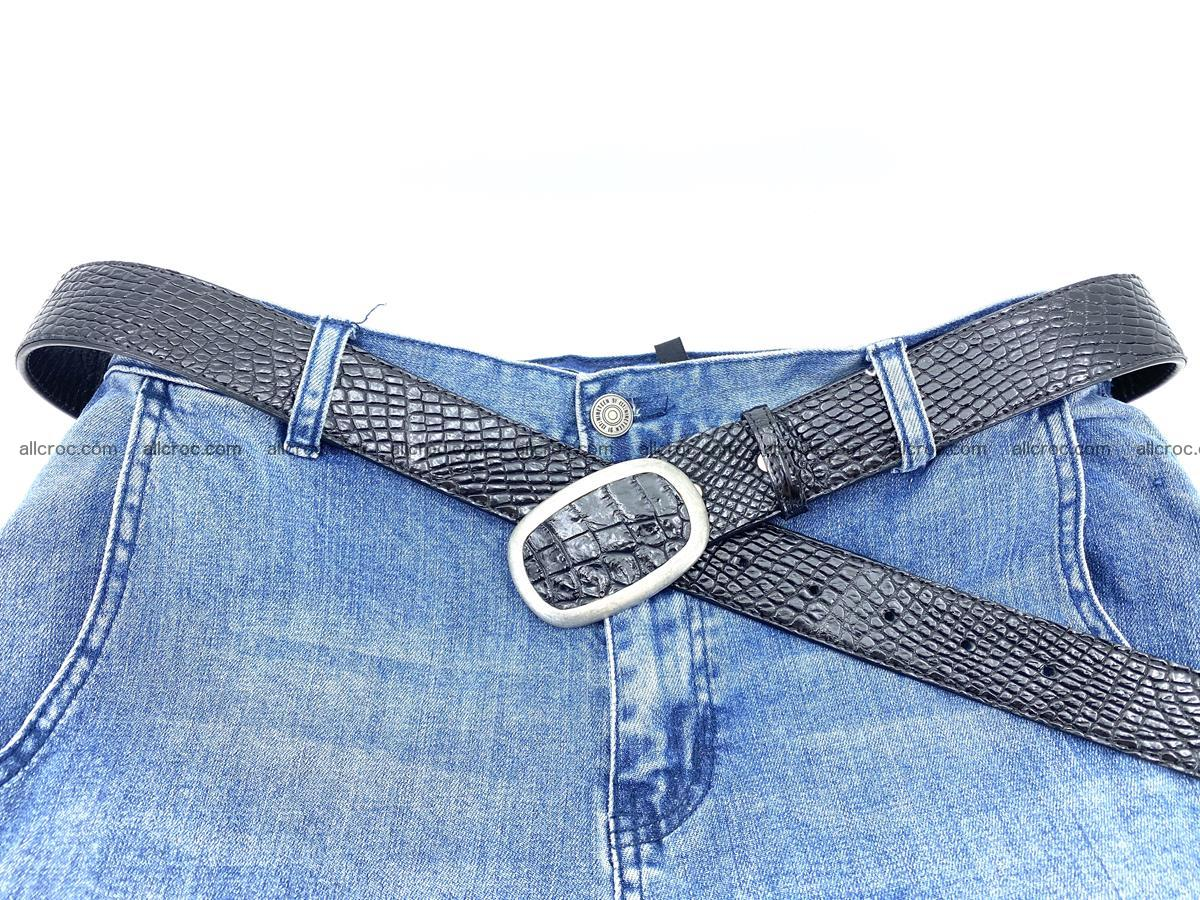 Handcrafted Crocodile leather belt 799 Foto 6