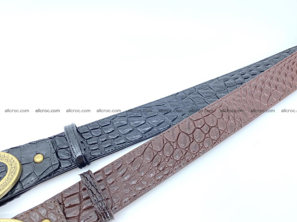 Handcrafted Crocodile leather belt 803 Foto 9