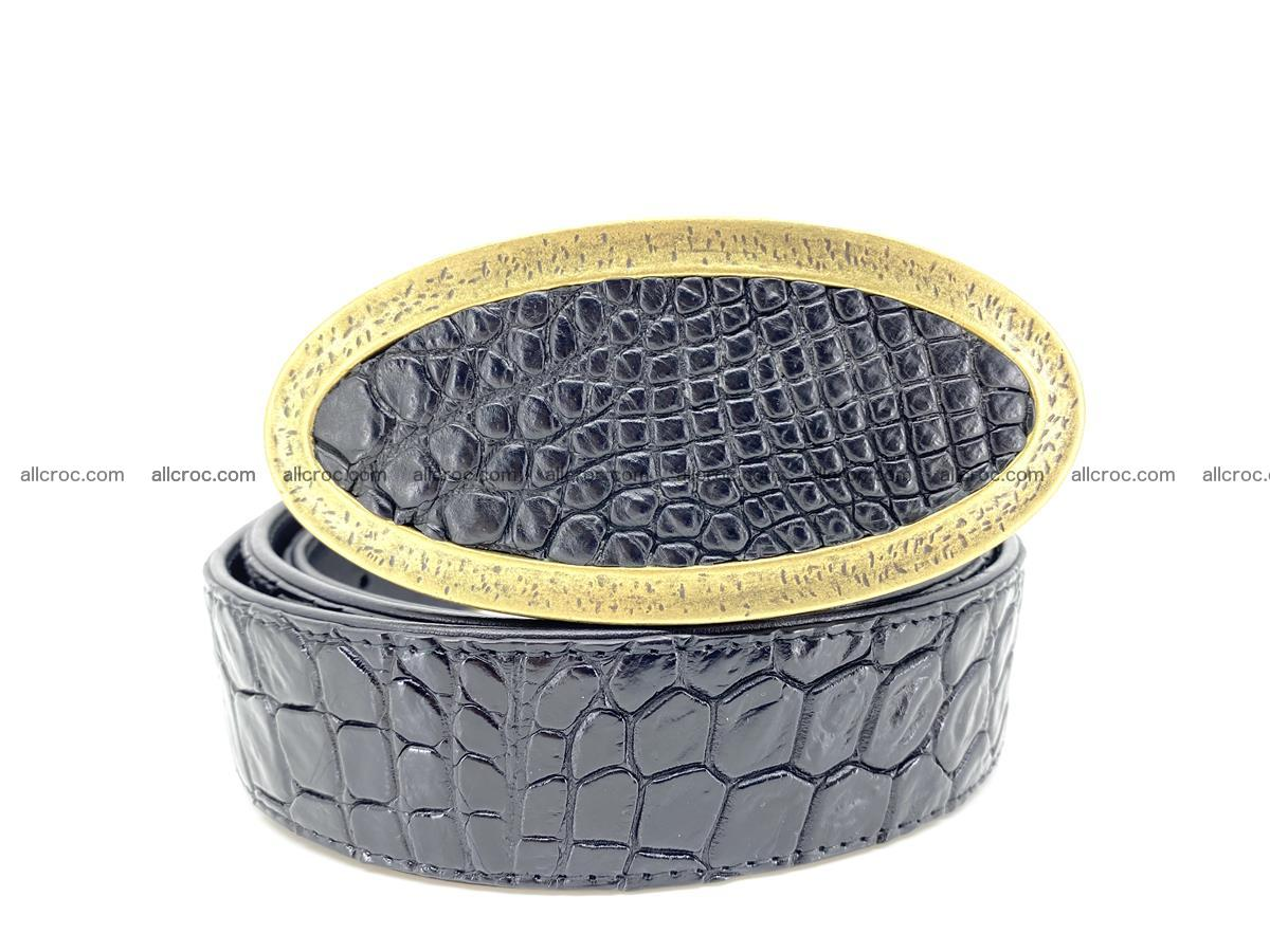 Handcrafted Crocodile leather belt 803 Foto 10