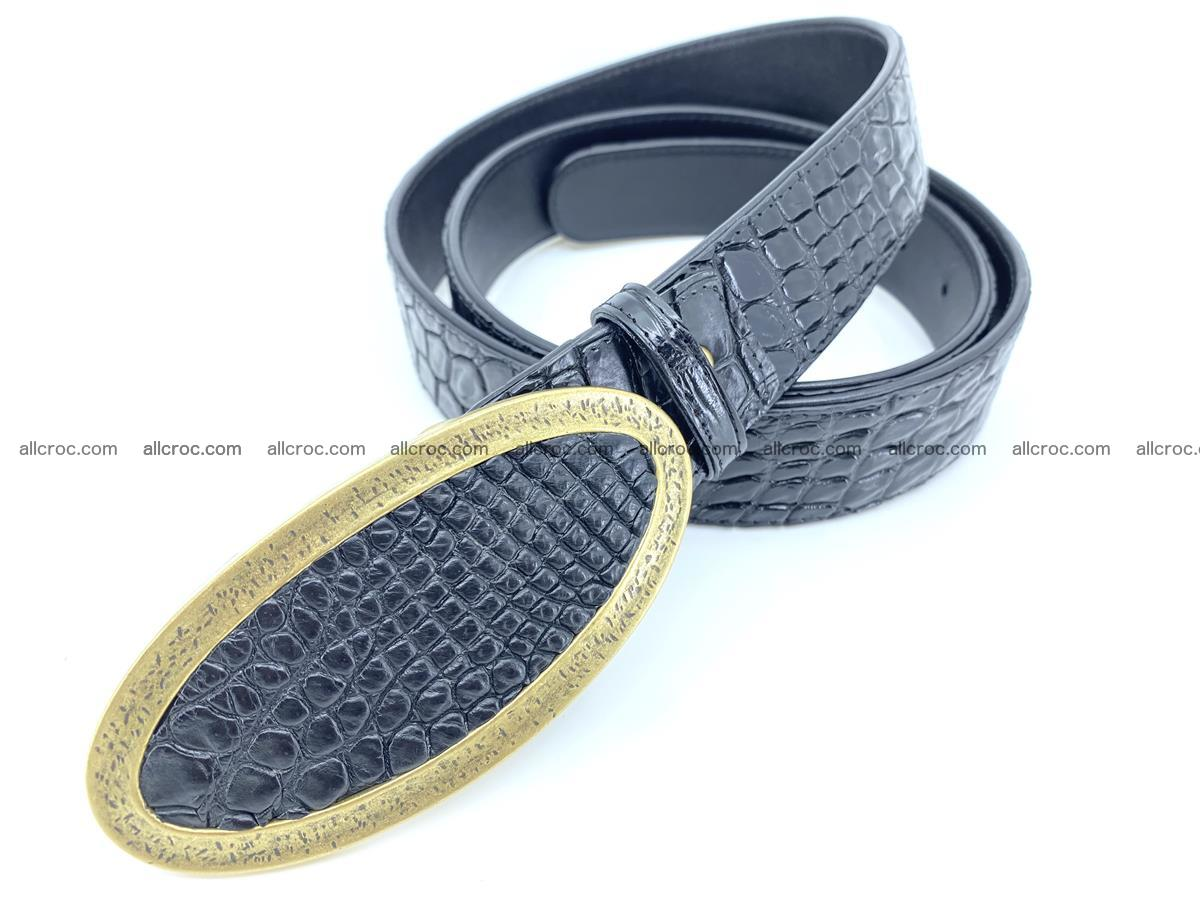 Handcrafted Crocodile leather belt 803 Foto 1