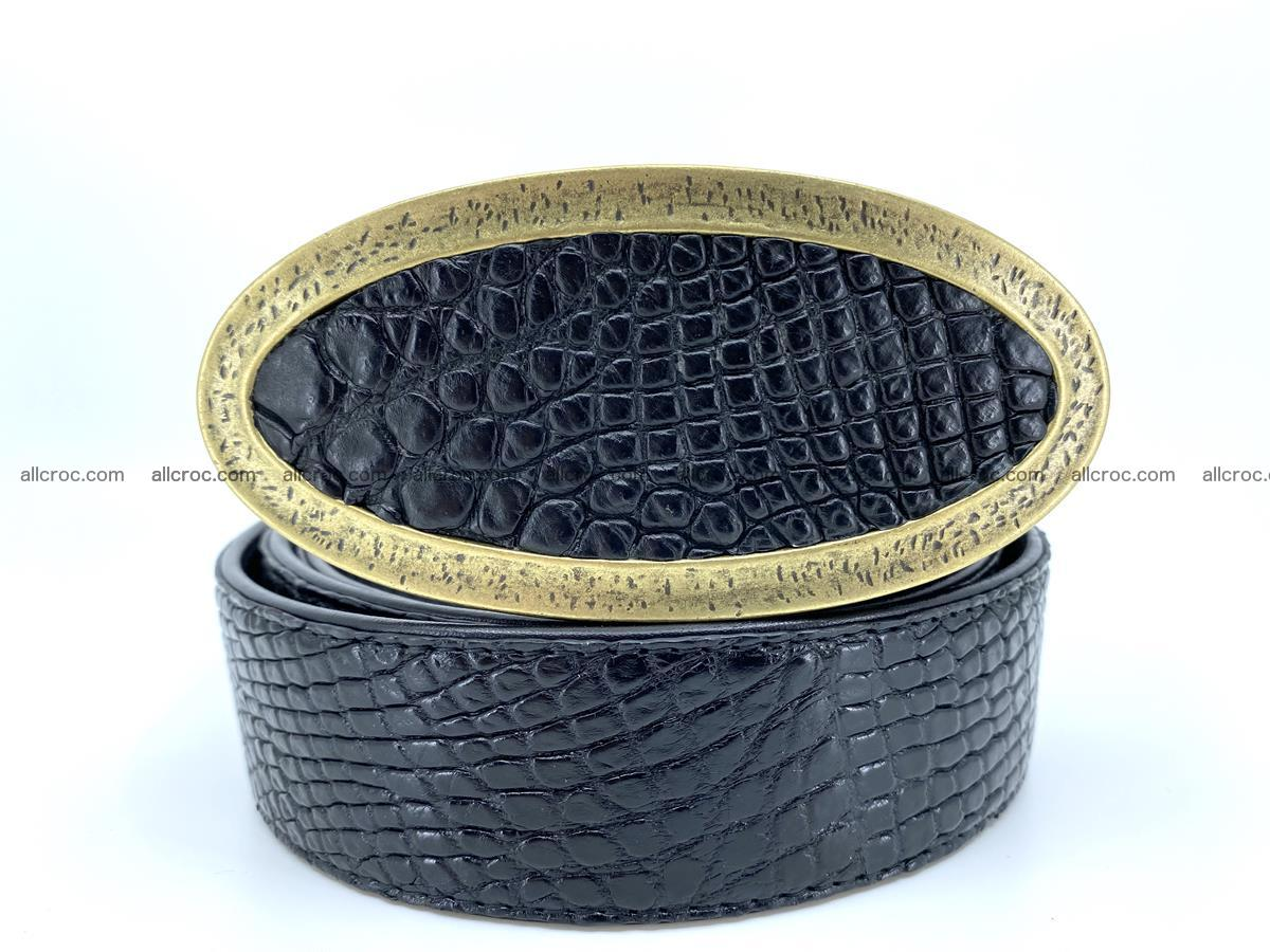 Handcrafted Crocodile leather belt 805 Foto 0