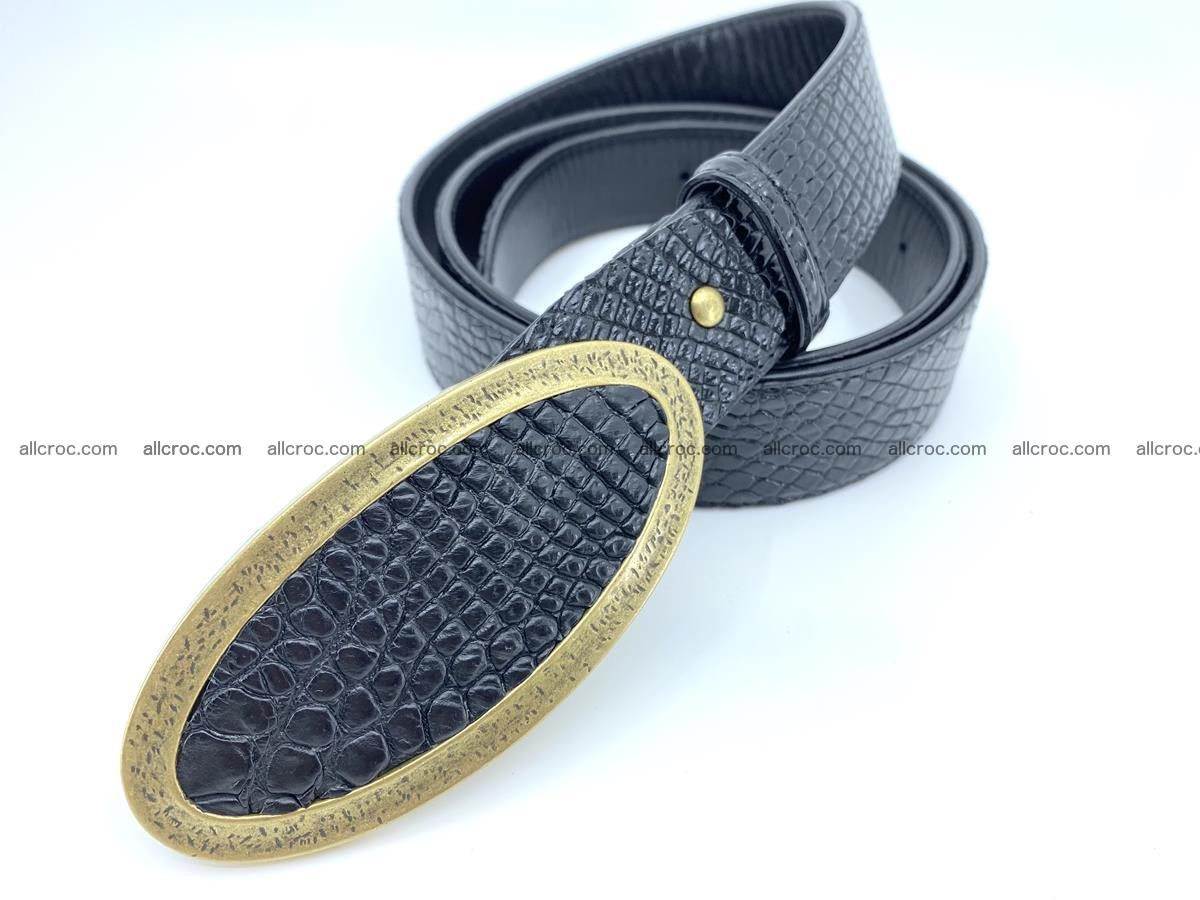 Handcrafted Crocodile leather belt 805 Foto 1