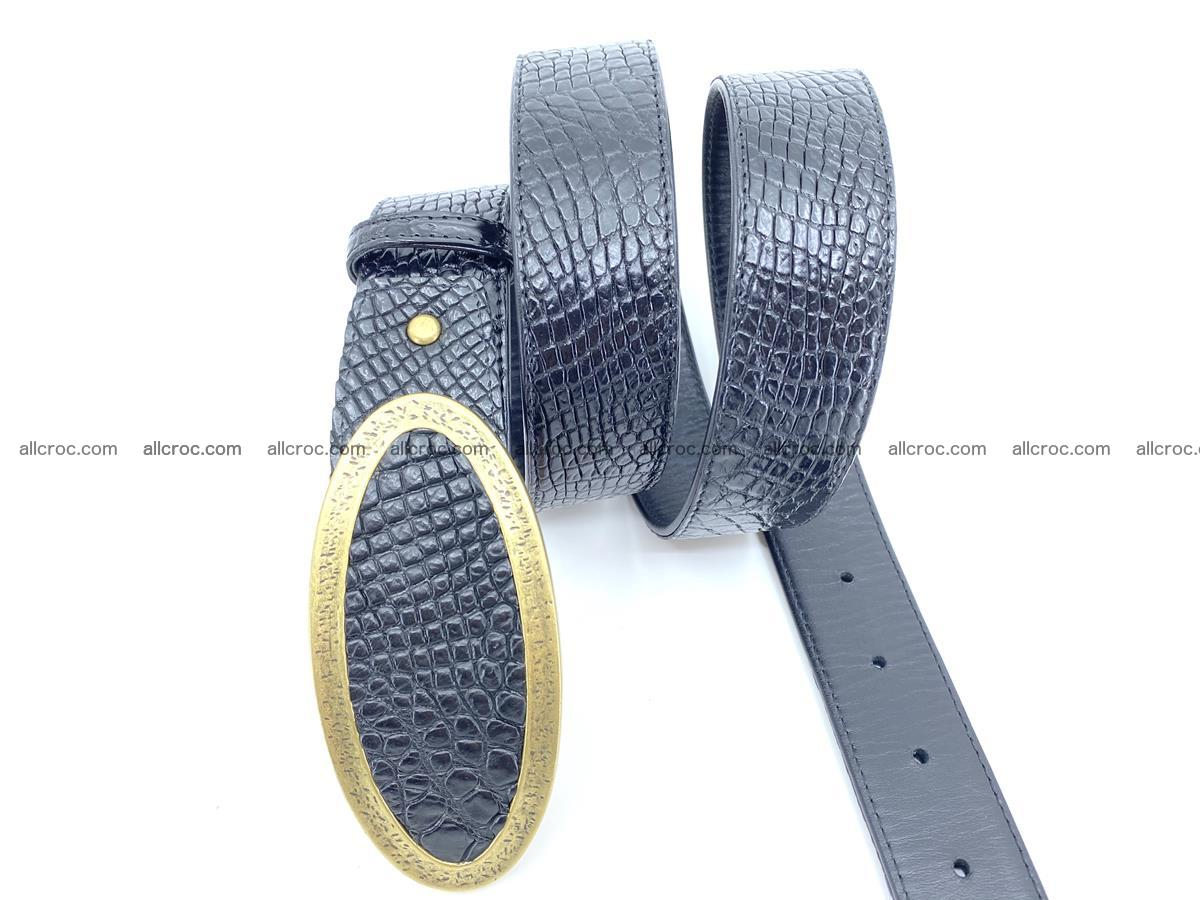 Handcrafted Crocodile leather belt 805 Foto 2