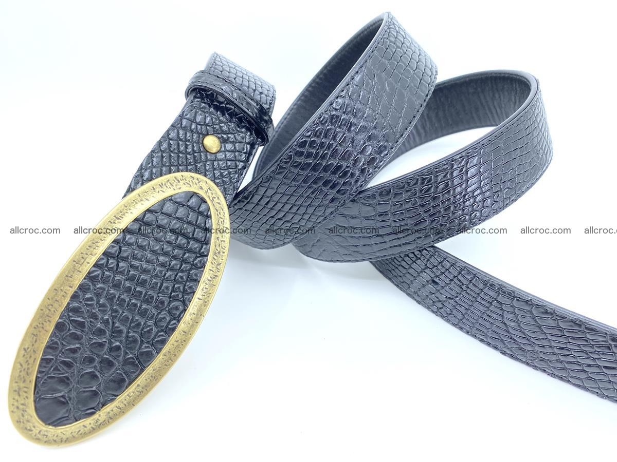 Handcrafted Crocodile leather belt 805 Foto 3