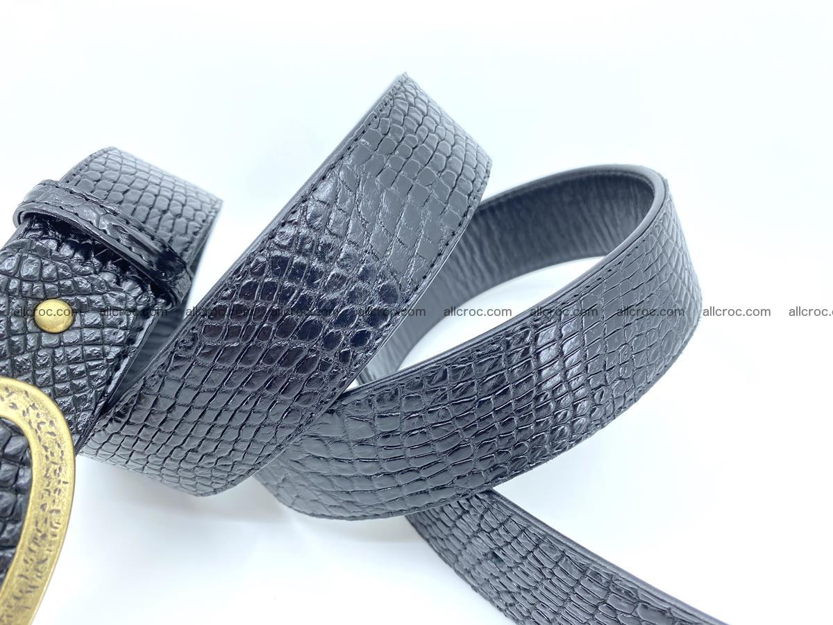 Handcrafted Crocodile leather belt 805 Foto 4