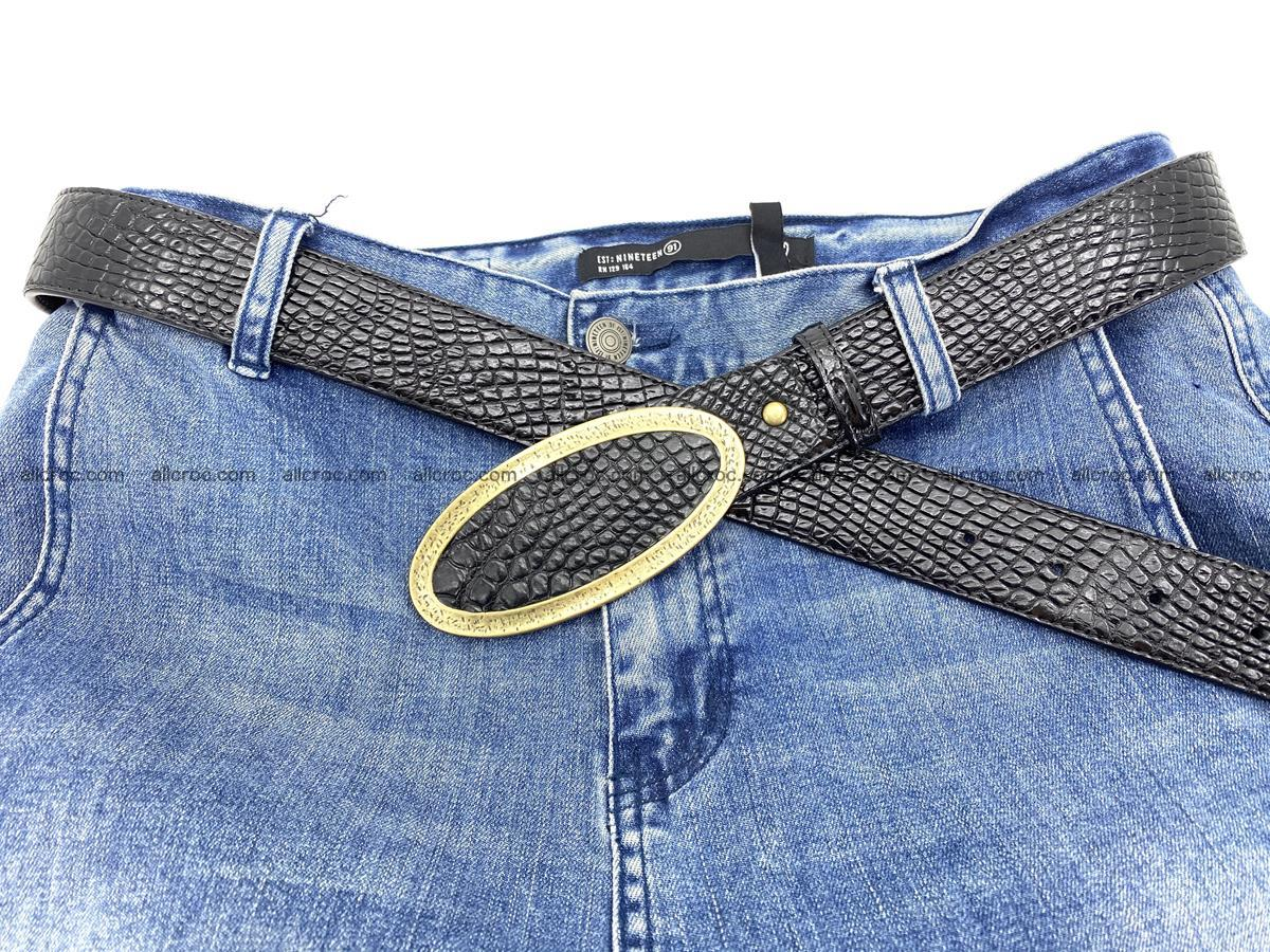 Handcrafted Crocodile leather belt 805 Foto 5