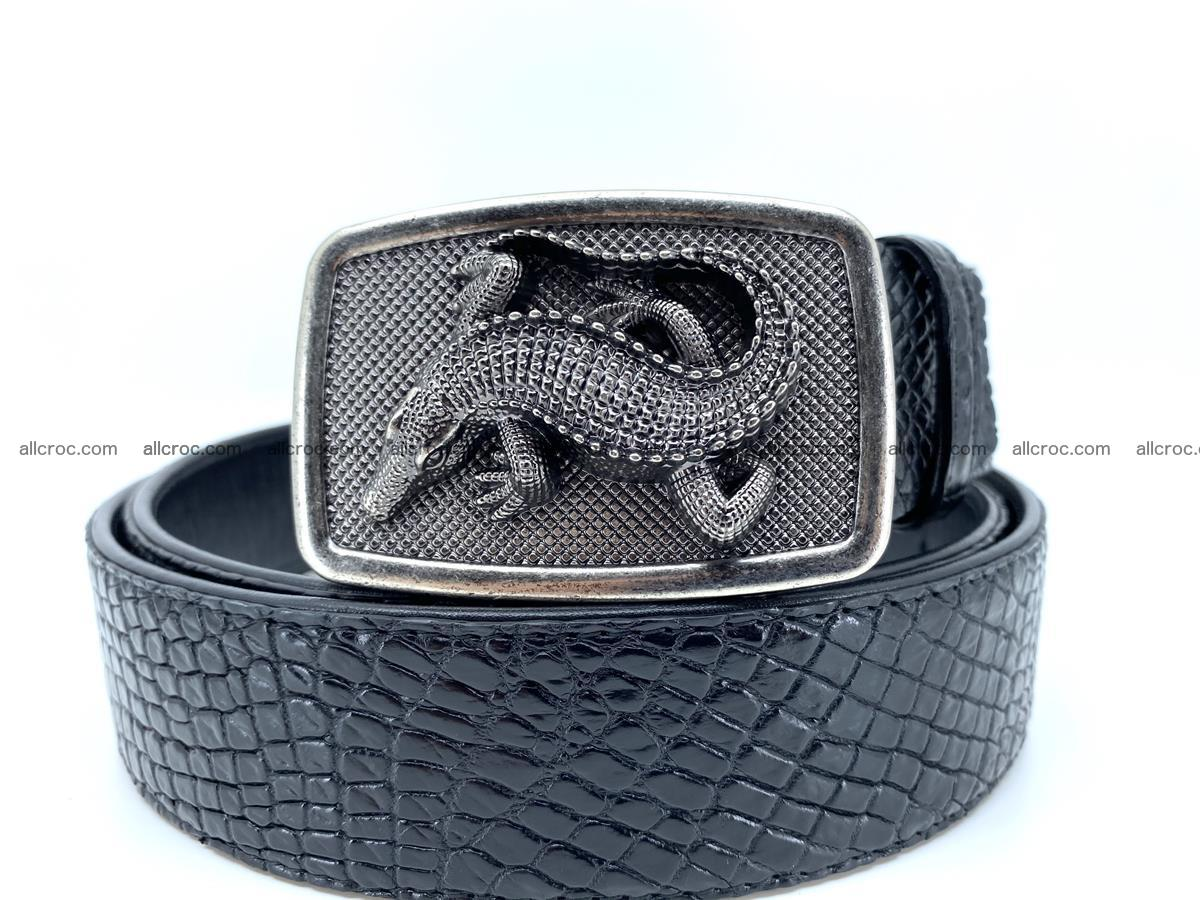 Handcrafted Crocodile leather belt 813 Foto 0