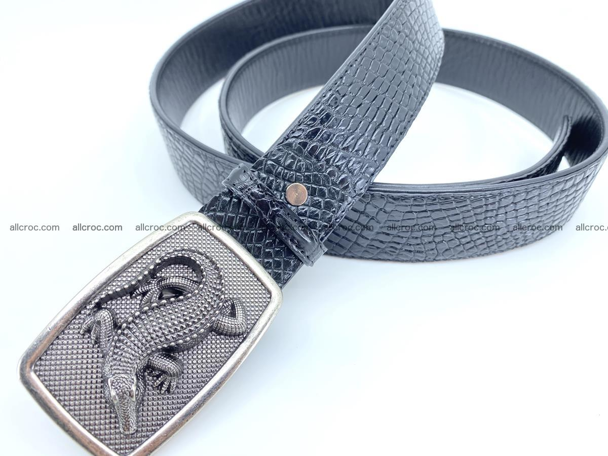 Handcrafted Crocodile leather belt 813 Foto 1