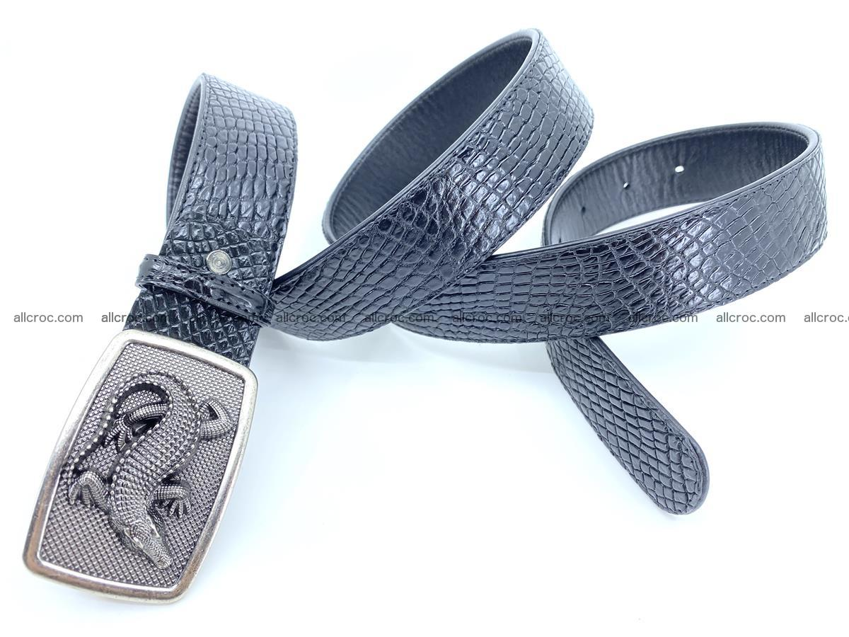 Handcrafted Crocodile leather belt 813 Foto 3