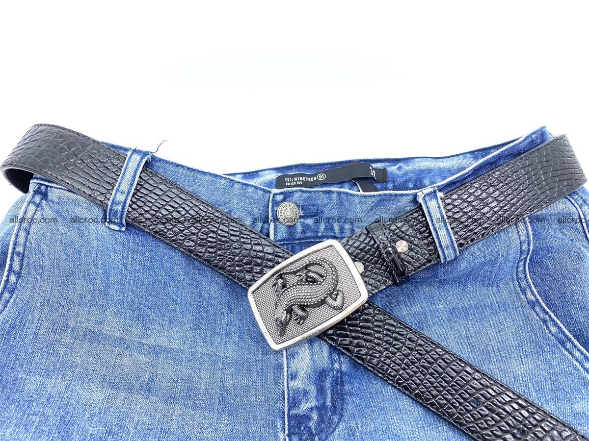 Handcrafted Crocodile leather belt 813 Foto 5