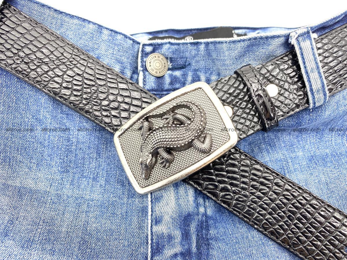 Handcrafted Crocodile leather belt 813 Foto 6