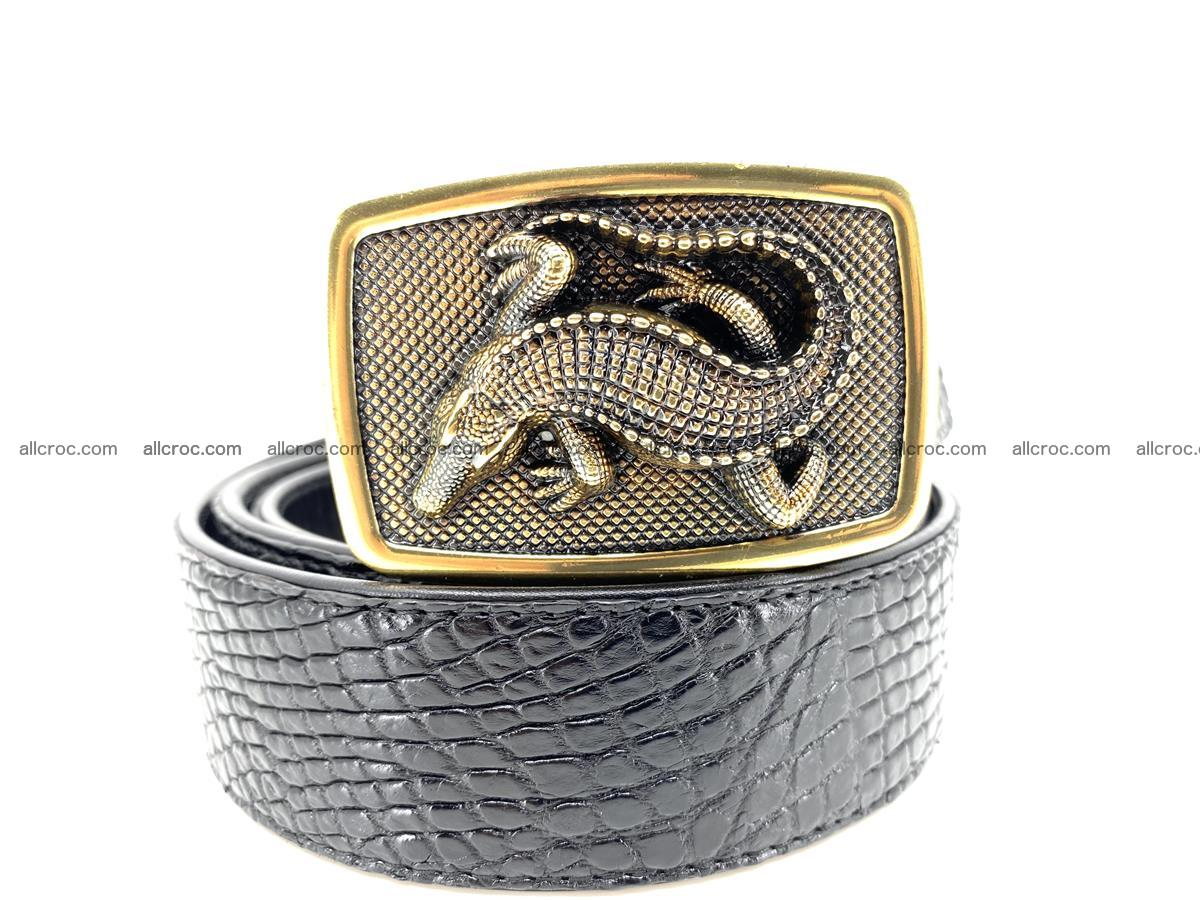 Handcrafted Crocodile leather belt 817 Foto 0