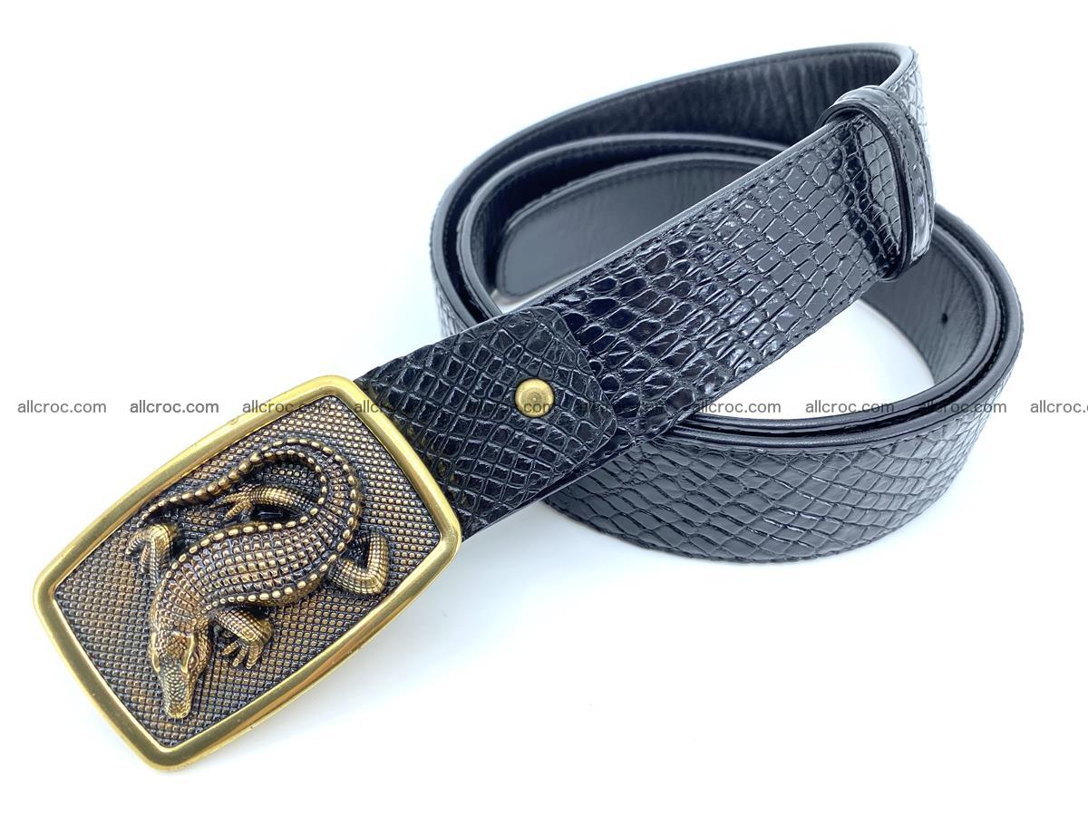 Handcrafted Crocodile leather belt 817 Foto 1