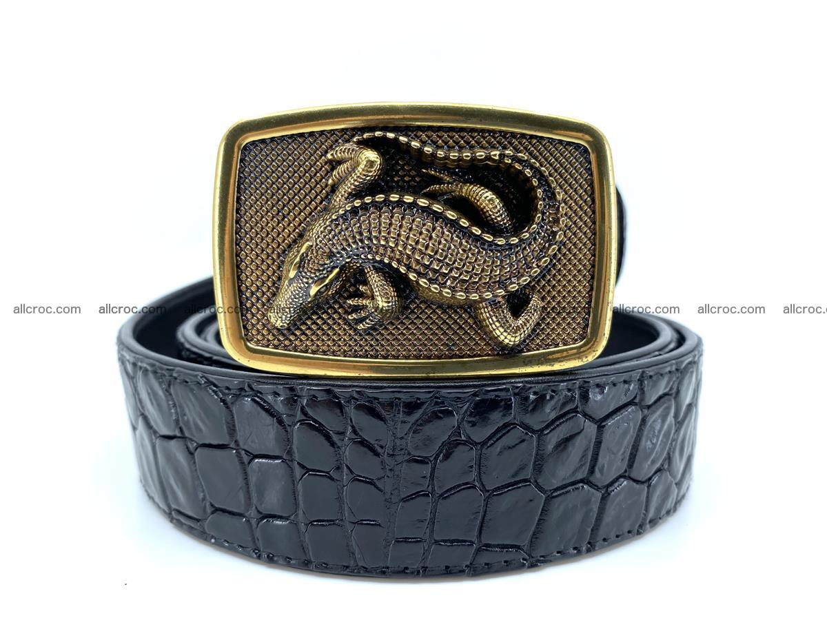 Handcrafted Crocodile leather belt 815 Foto 0
