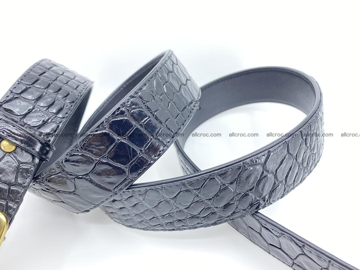 Handcrafted Crocodile leather belt 815 Foto 4