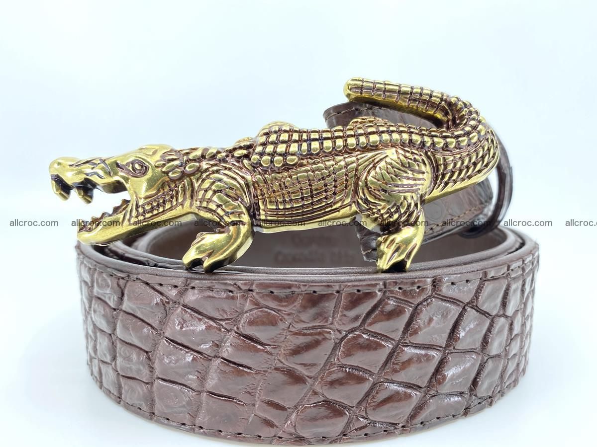 Handcrafted Crocodile leather belt 757 Foto 0