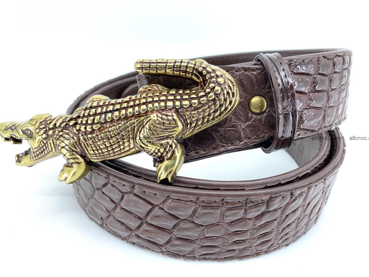 Handcrafted Crocodile leather belt 757 Foto 1