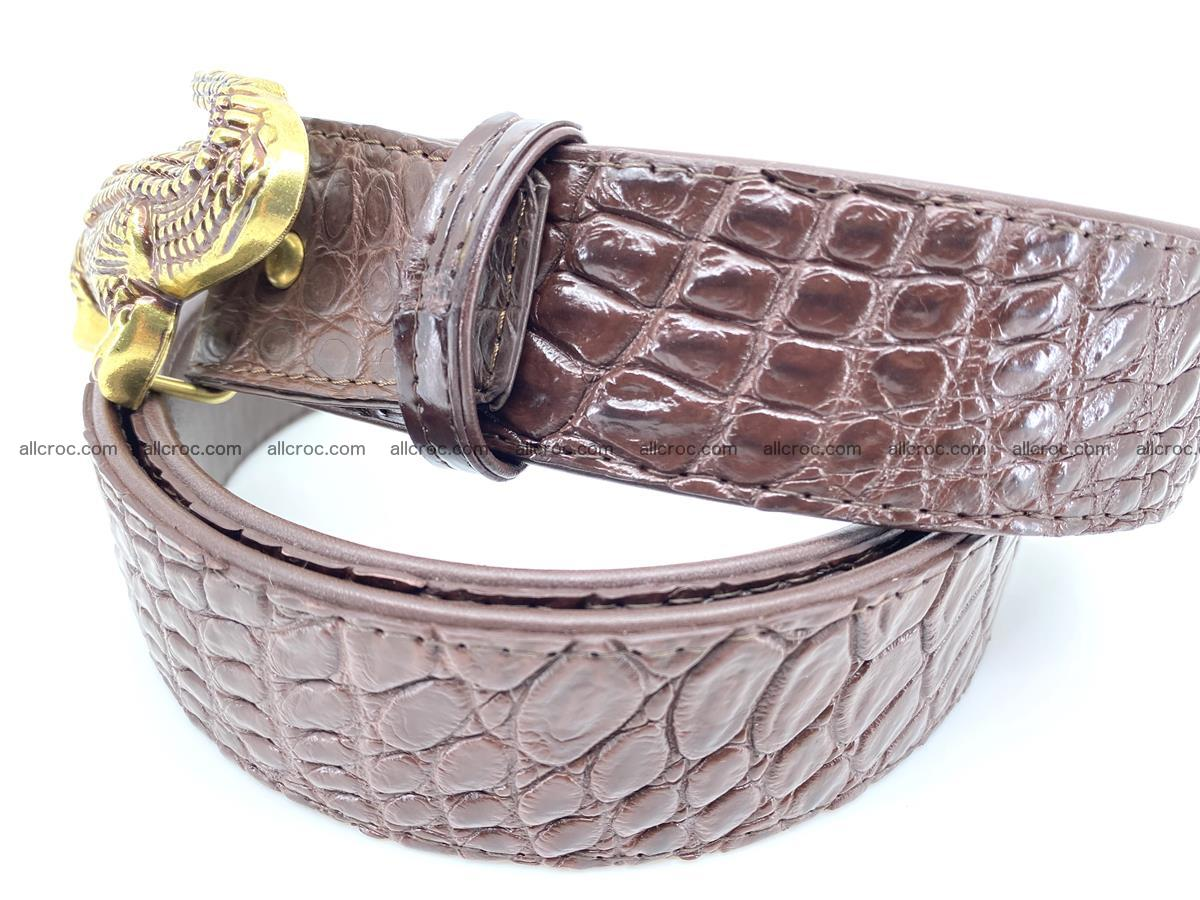 Handcrafted Crocodile leather belt 757 Foto 2