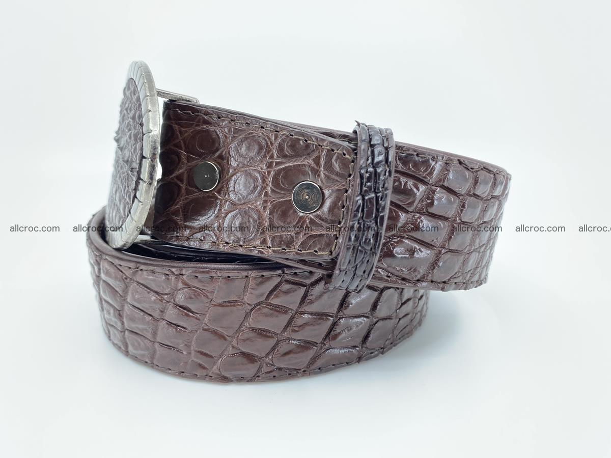 Handcrafted Crocodile leather belt 772 Foto 2