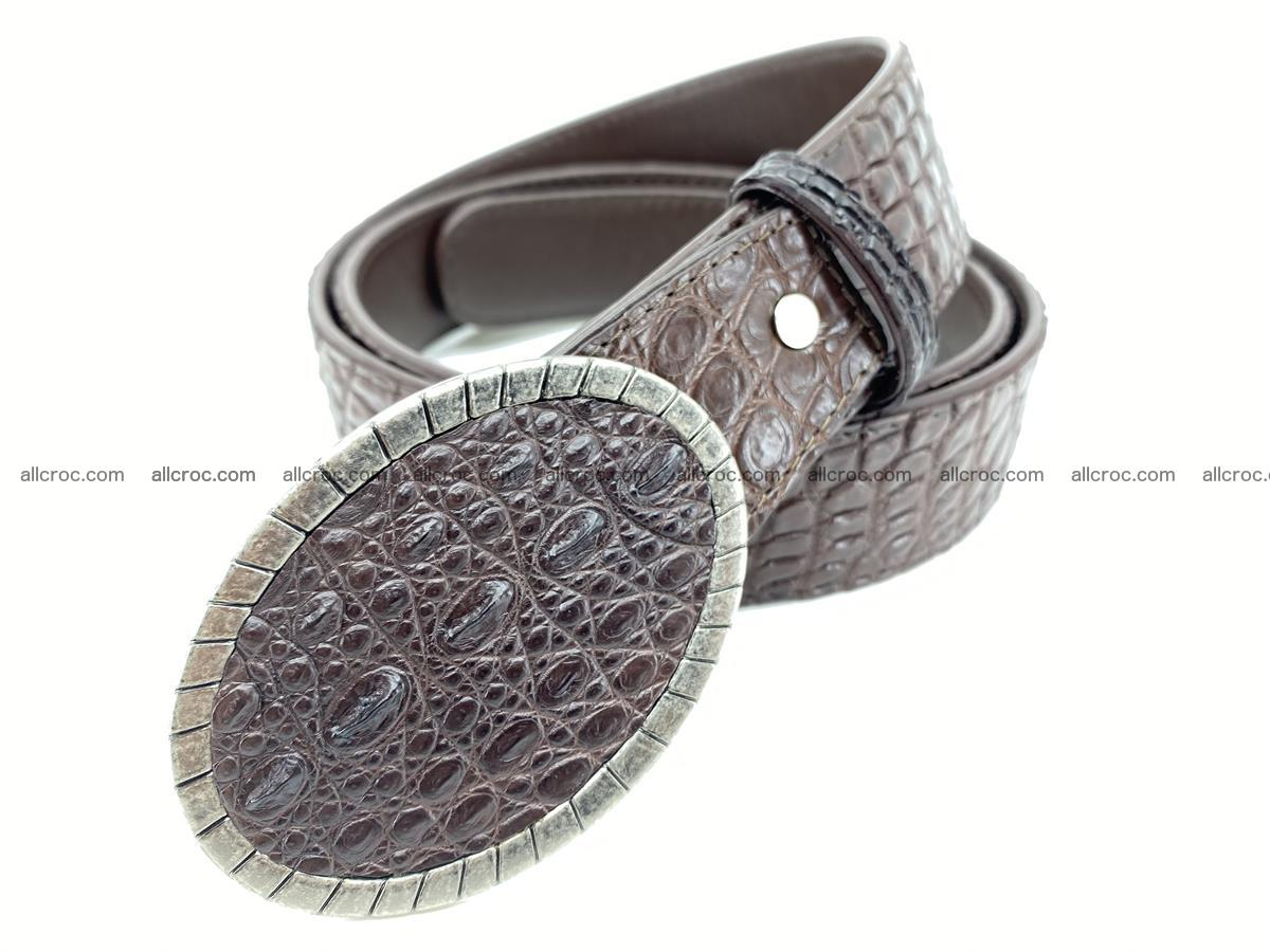 Handcrafted Crocodile leather belt 772 Foto 1