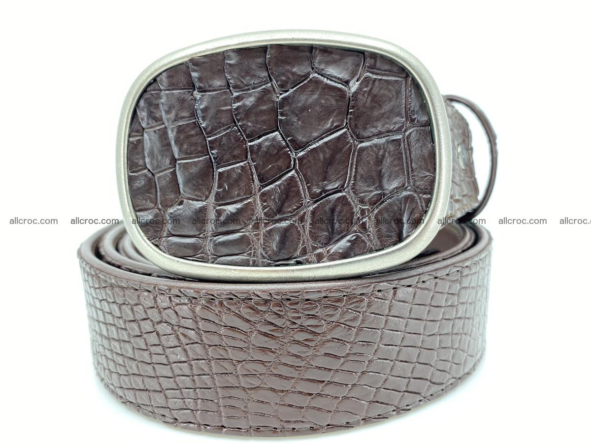 Handcrafted Crocodile leather belt 782 Foto 0