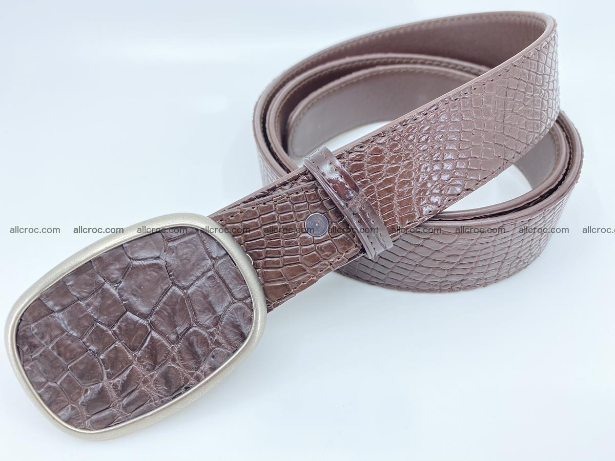 Handcrafted Crocodile leather belt 782 Foto 1