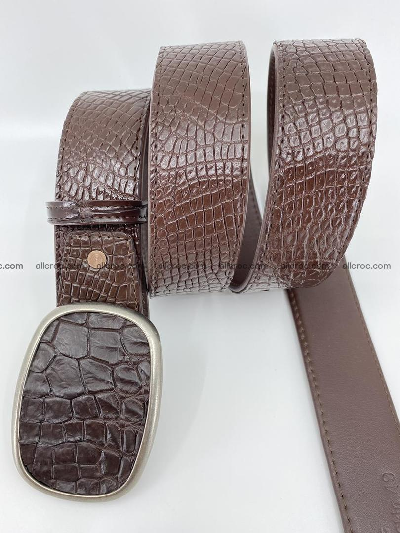 Handcrafted Crocodile leather belt 782 Foto 2