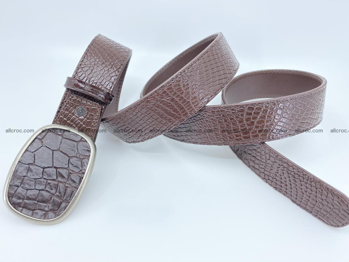 Handcrafted Crocodile leather belt 782 Foto 3