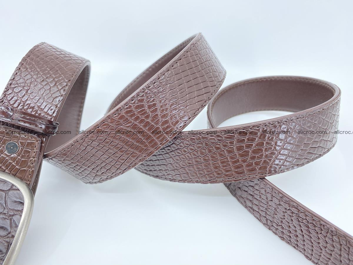 Handcrafted Crocodile leather belt 782 Foto 4