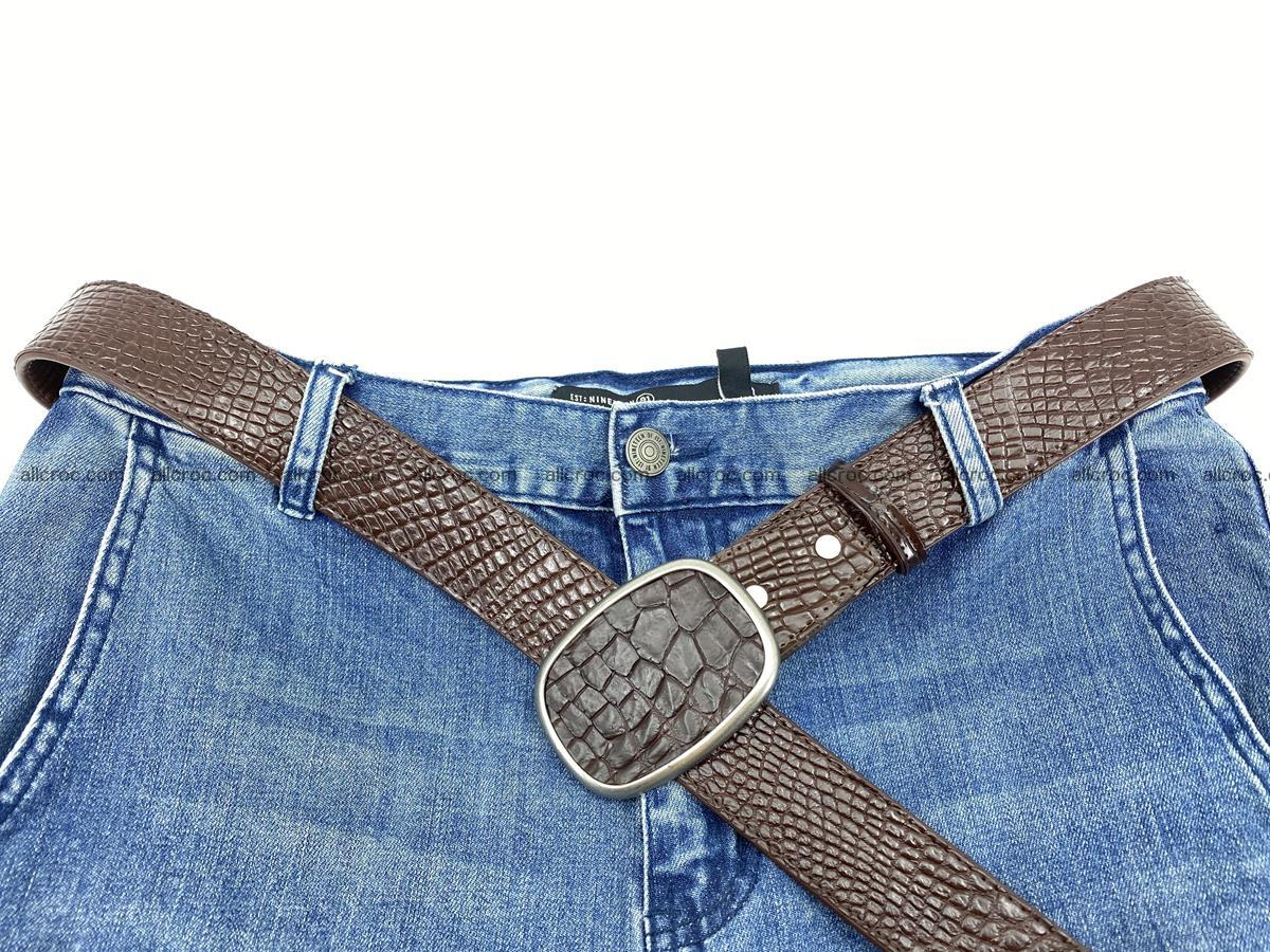 Handcrafted Crocodile leather belt 782 Foto 5