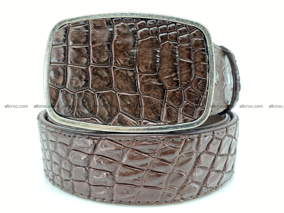 Handcrafted Crocodile leather belt 783 Foto 0