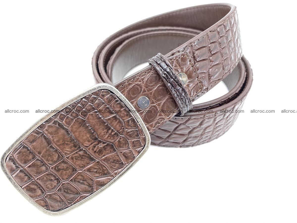 Handcrafted Crocodile leather belt 783 Foto 1