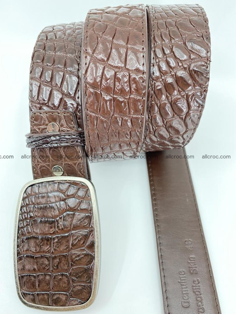 Handcrafted Crocodile leather belt 783 Foto 2