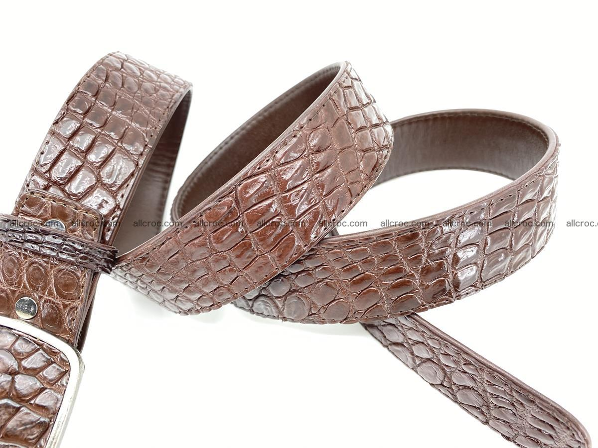 Handcrafted Crocodile leather belt 783 Foto 4