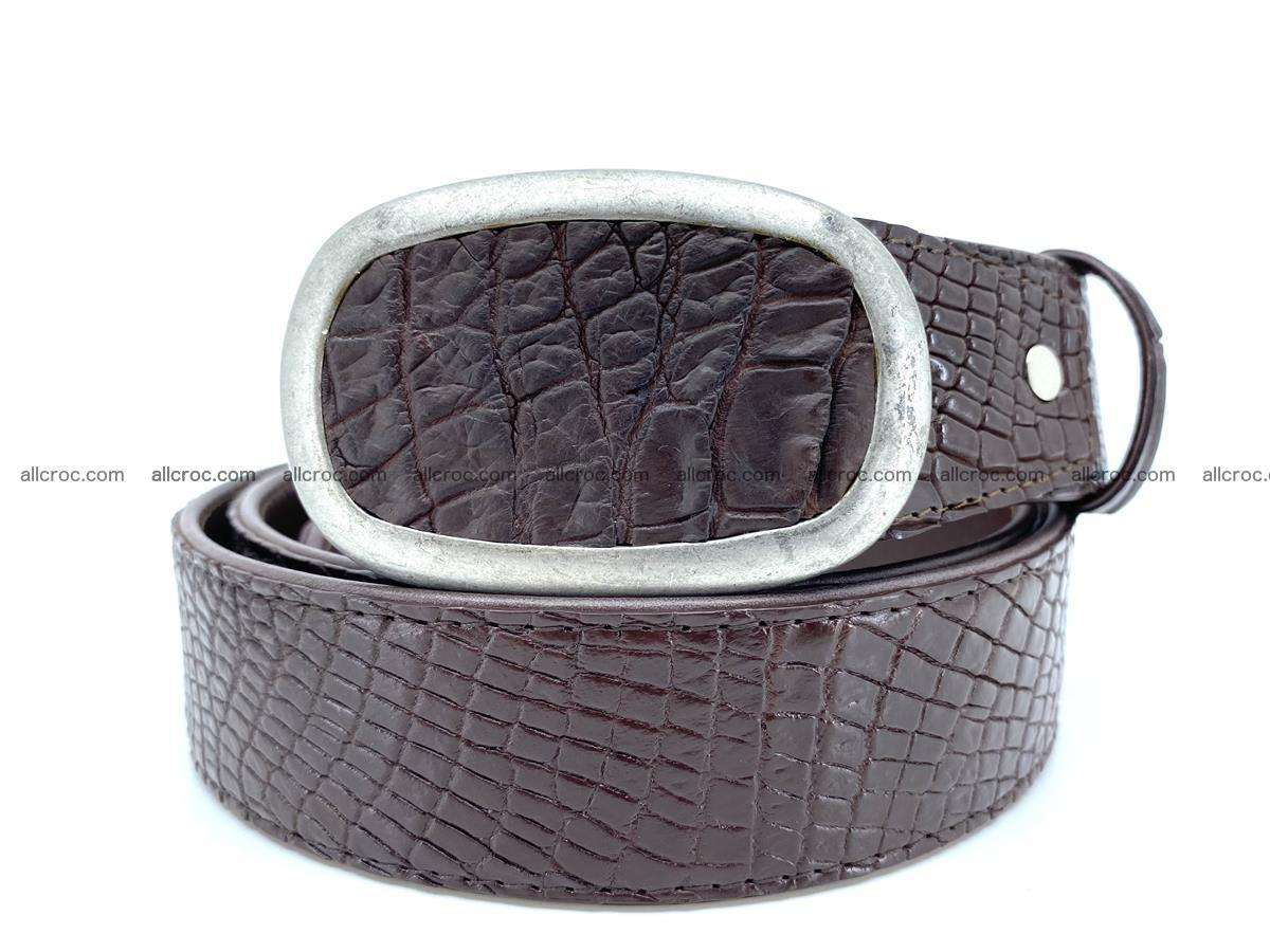 Handcrafted Crocodile leather belt 797 Foto 11