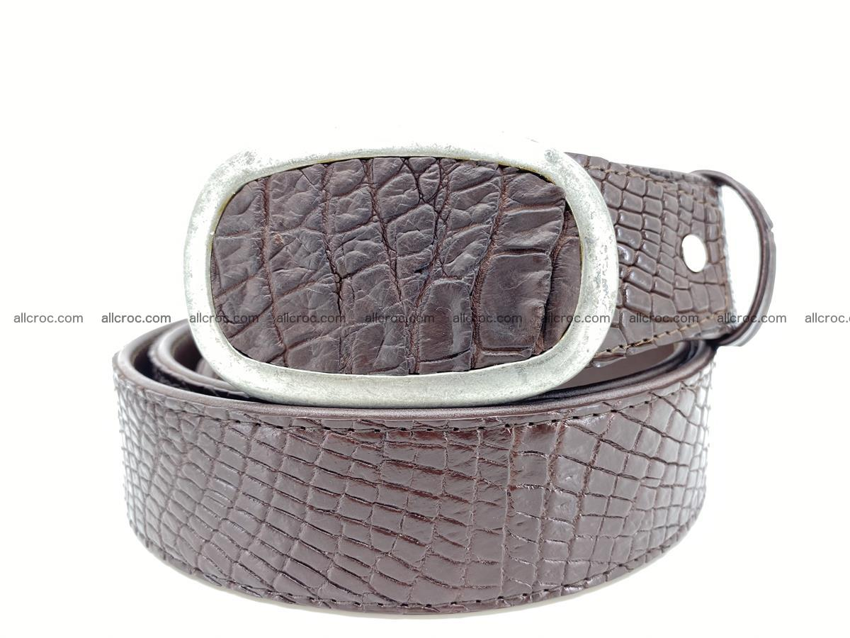 Handcrafted Crocodile leather belt 797 Foto 0