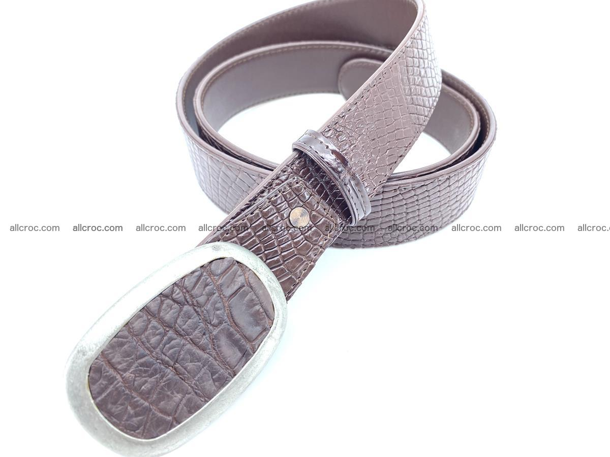 Handcrafted Crocodile leather belt 797 Foto 1