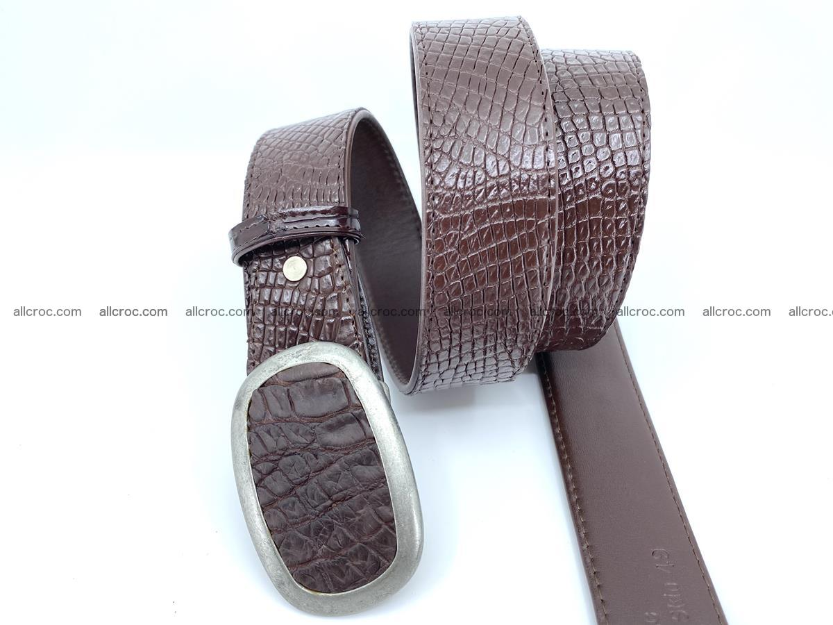 Handcrafted Crocodile leather belt 797 Foto 2