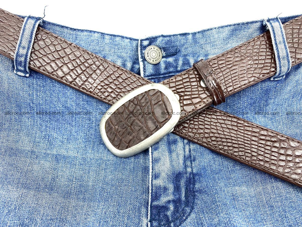 Handcrafted Crocodile leather belt 797 Foto 6