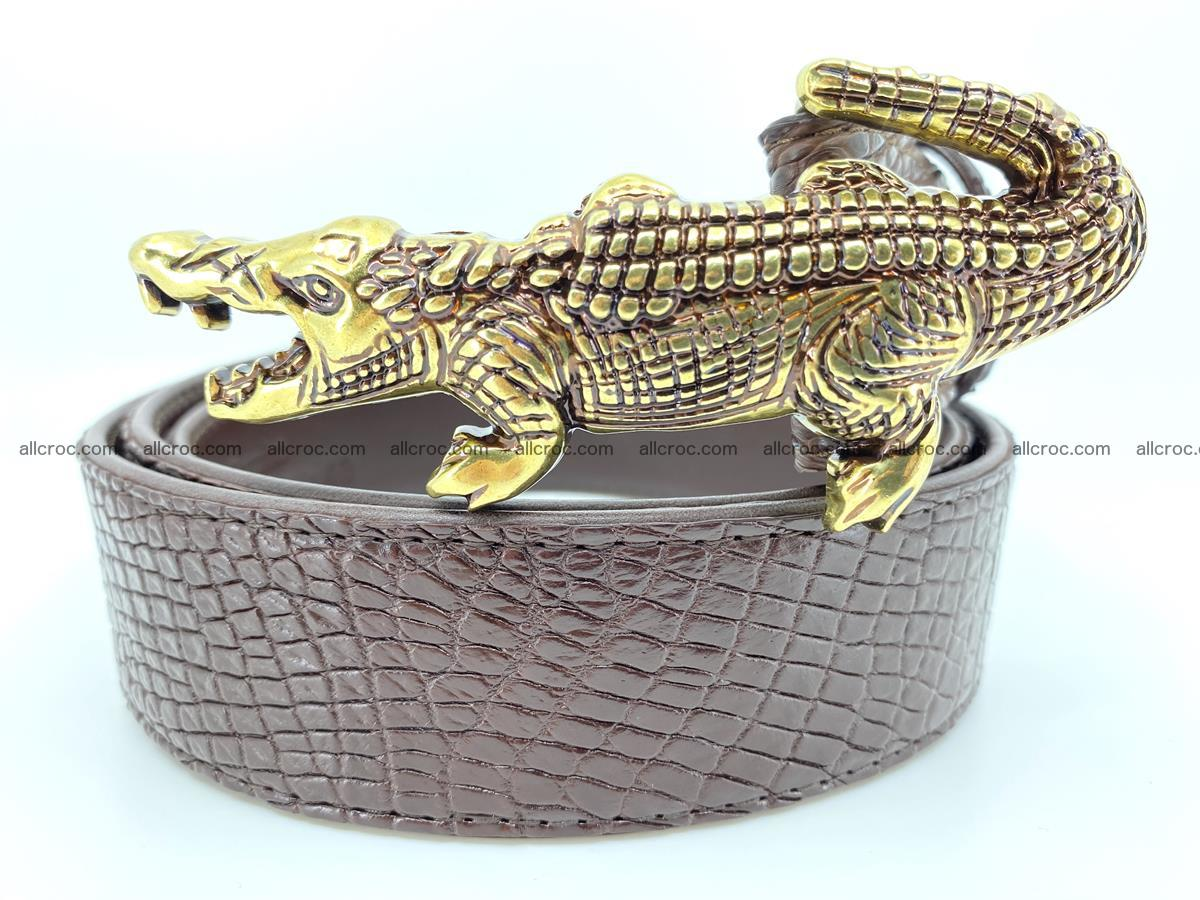 Handcrafted Crocodile leather belt 758 Foto 0